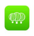 camera lenses icon digital green vector image