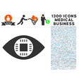 chip eye lens icon with 1300 medical business vector image