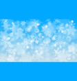 christmas background of blurred snowflakes vector image vector image