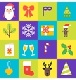 Christmas icons collection Set of isolated vector image vector image