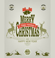 christmas label of green and red pastel shades vector image vector image