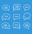 collection of speech bubbles linear icons vector image vector image