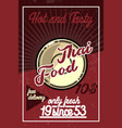 color vintage thai food banner vector image vector image