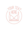 concept of woman lingerie logo vector image