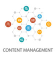 content management presentation template cover vector image vector image