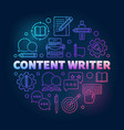 content writer colored round line vector image vector image
