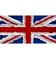 design flag united kingdom from torn papers with vector image vector image