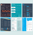 design template of business cv curriculum vector image