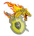 dragon slayer vector image