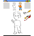 educational task for kids vector image vector image