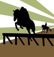 equestrian vector image vector image