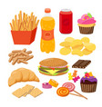 fast foods flat group of vector image vector image
