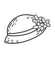 female hat with flowers icon vector image