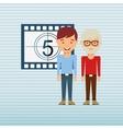 filmed entertainment design vector image vector image