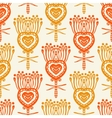 Floral pattern with ethnic indian motifs vector image vector image