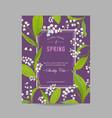 floral spring design template wedding invitation