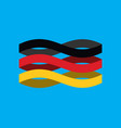 germany flag ribbon isolated german symbol vector image vector image