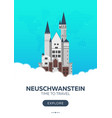 germany neuschwanstein time to travel travel vector image vector image