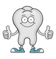 Happy smiling tooth cartoon character