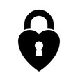 heart shaped padlock vector image