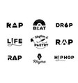 hip hop element with word design vector image vector image