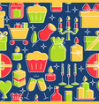 holiday celebration seamless pattern in colored vector image