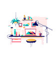 homely stylish home office workplace modern vector image vector image