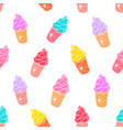 ice cream pattern 5 vector image vector image