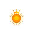 king sun logo icon design vector image