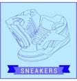 line art sneakers vector image vector image