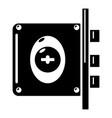lock interroom icon simple black style vector image vector image