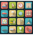 Logistics flat icons vector image