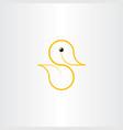 logo duck yellow symbol icon element vector image