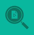 media file search glyph color icon vector image vector image