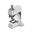 medical microscope isometric vector image vector image