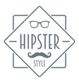 men hipster style logo simple style vector image