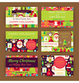 Merry Christmas Invitation Template Flat Set