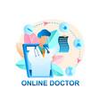 online doctor consultation patient vector image vector image