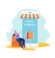 online shopping internet goods order customer vector image vector image