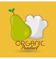 organic food chef hat vector image