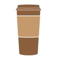paper coffee cup symbol vector image vector image