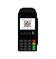 qr code scan on pos terminal vector image vector image