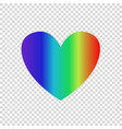 rainbow multicolored gradient heart icon clip art vector image