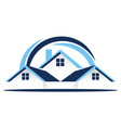 real estate roof vector image vector image