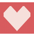 Red knitted pattern with heart vector image