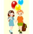 school childhood vector image