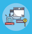 security system technology vector image vector image