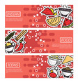 set horizontal banners about indian food vector image vector image