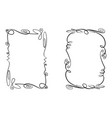 set of flourish frames collection of vector image vector image