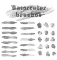set of water color brushes vector image vector image